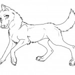 Coloring Page of Wolf
