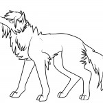 Coloring Page of Wolf Images