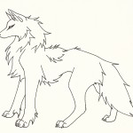 Coloring Page of Wolf Pictures