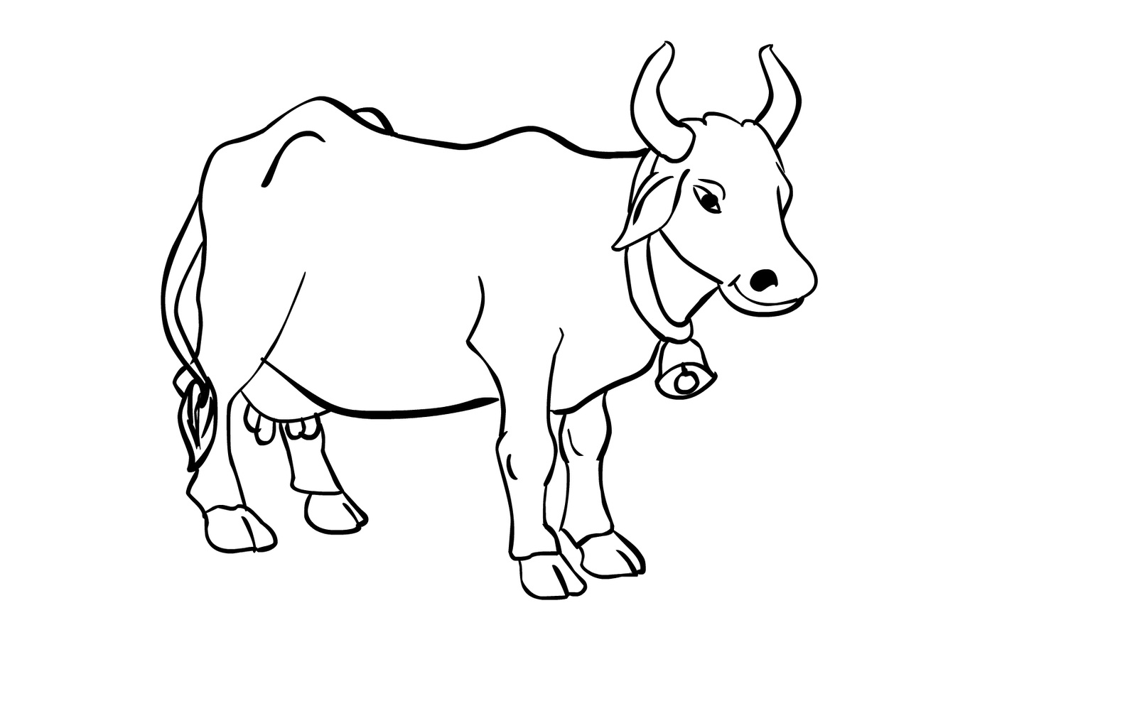 Coloring pages cow - Coloring Pages Cow Image