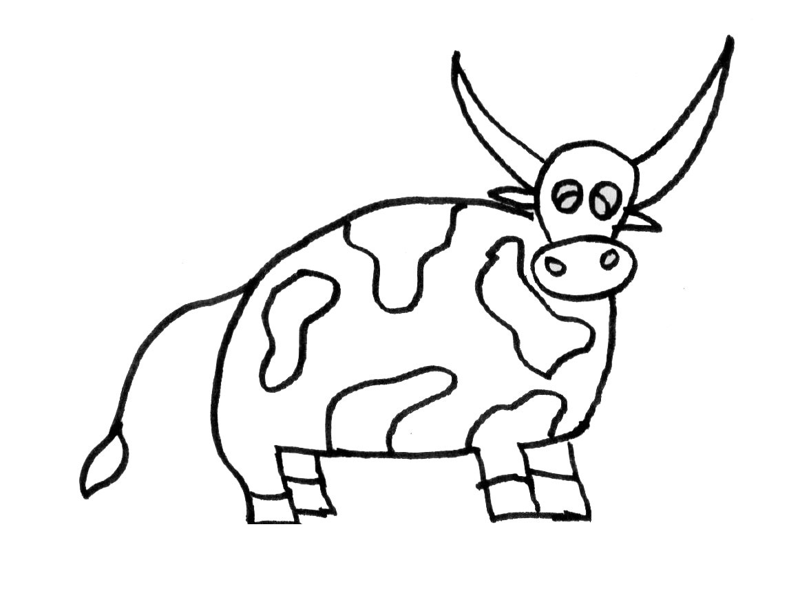 printable cow coloring pages - photo#22