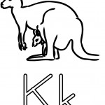 Coloring Pages Kangaroo Picture