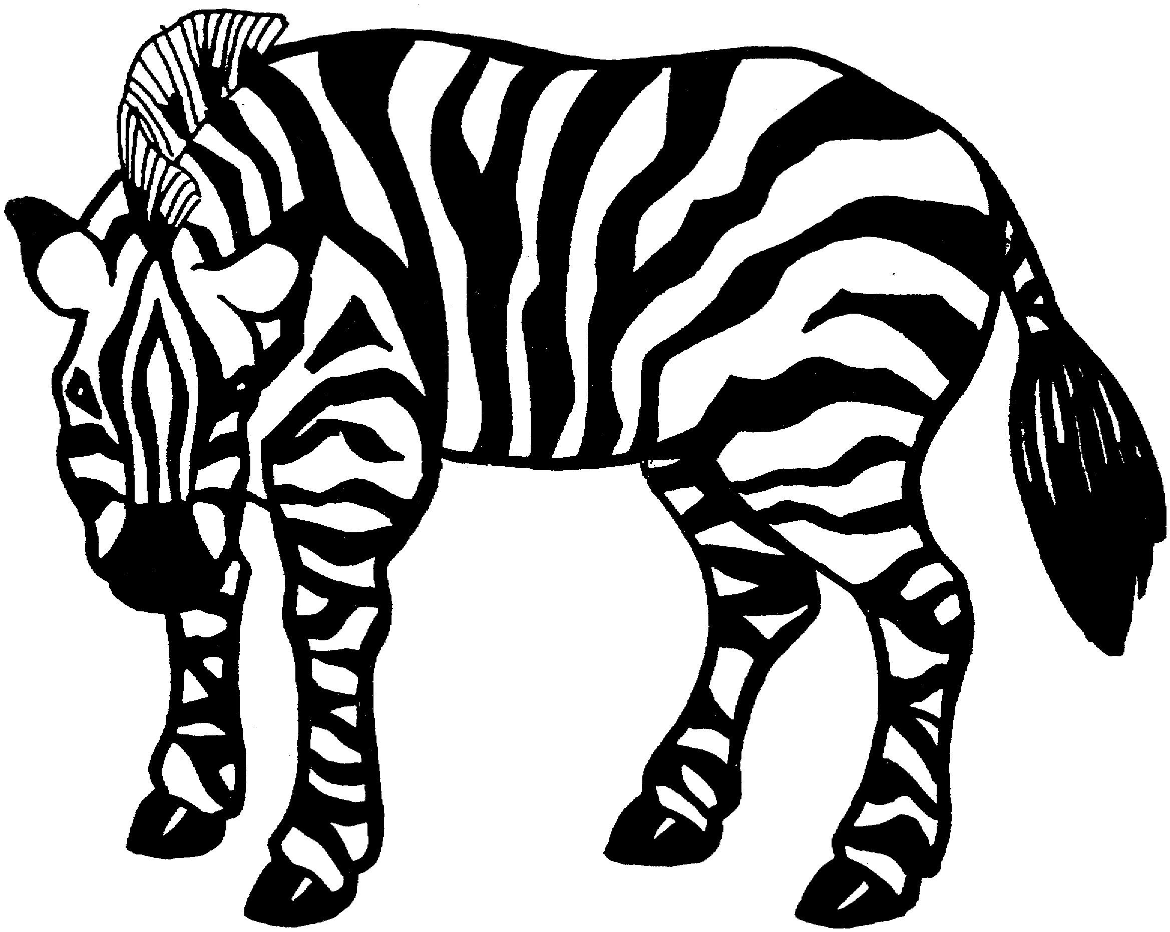 Coloring pages for zebra - Coloring Pages Zebra Image
