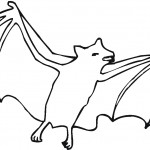 Coloring Pages of Bat Image