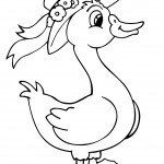 Coloring Pages of Duck Image