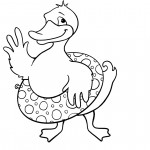 Coloring Pages of Duck Photo