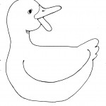 Coloring Pages of Duck Picture