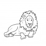 Coloring Pages of Lion Picture