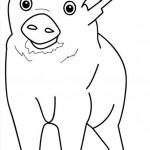 Coloring Pages of Pig Photos