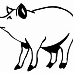 Coloring Pages of Pig Picture