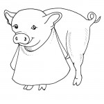 Coloring Pages of Pig Pictures