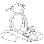 Coloring Pages of Snake Images