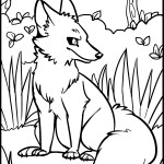 Coloring Pages of Wolf