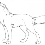 Coloring Pages of Wolf Image