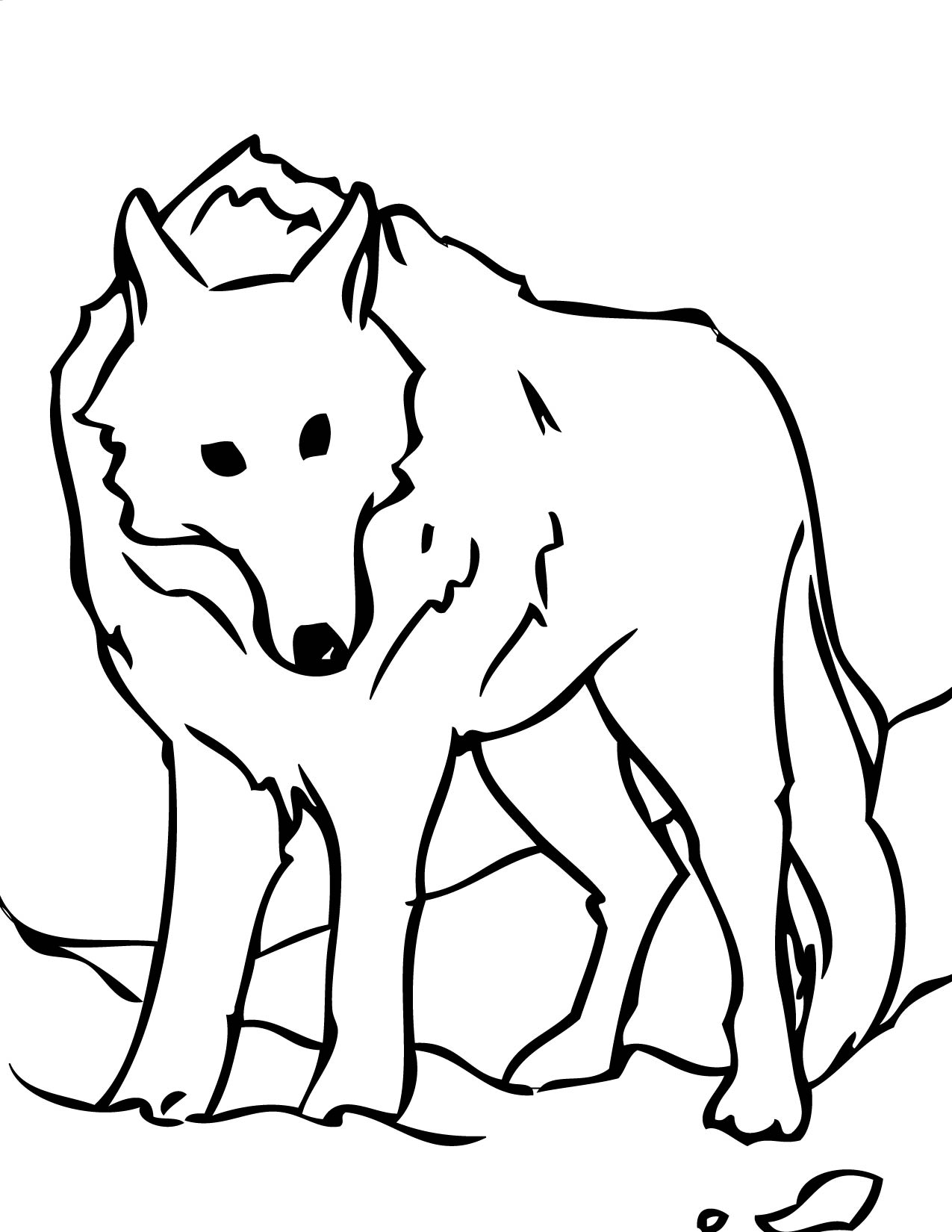 free printable wolf coloring pages for kids animal place