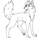 Coloring Pages of Wolf Photo