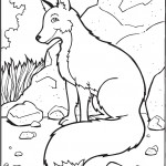 Coloring Pages of Wolf Picture