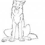 Coloring Pages of Wolf Pictures