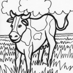 Cow Coloring Page Image