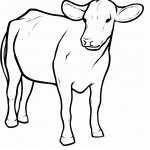 Cow Coloring Page for Kids Image