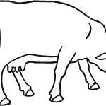 Cow Coloring Page for Kids Photo