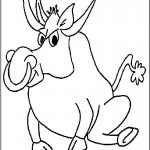 Cow Coloring Page for Kids Picture