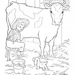 Cow Coloring Page for Kids Pictures