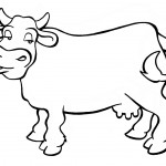 Cow Coloring Pages Picture