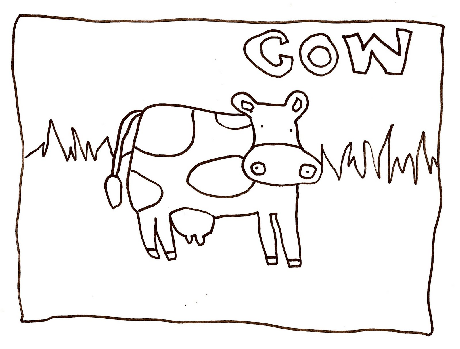 free printable cow coloring pages for kids animal place