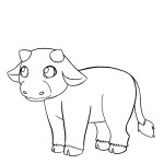 Cow Coloring Pages for Kids Images