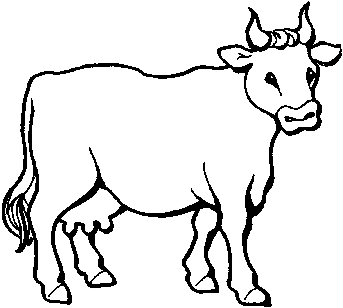 Line Drawing Cow : Free printable cow coloring pages for kids animal place