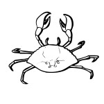 Crab Coloring Page Pictures