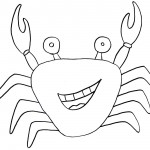 Crab Coloring Page for Kids Pictures
