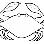 Crab Coloring Pages Picture