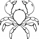 Crab Coloring Pages for Kids Image