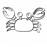 Crab Coloring Pages for Kids Picture