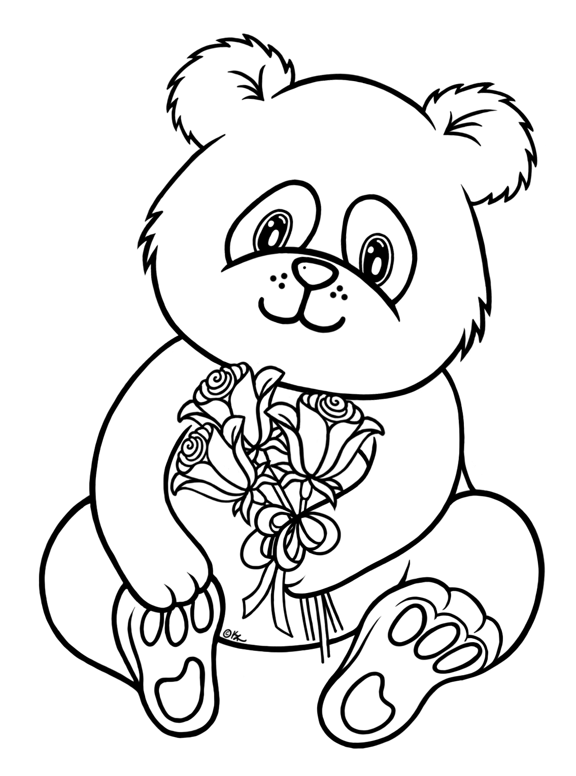 free printable panda coloring pages for kids - Panda Pictures To Color