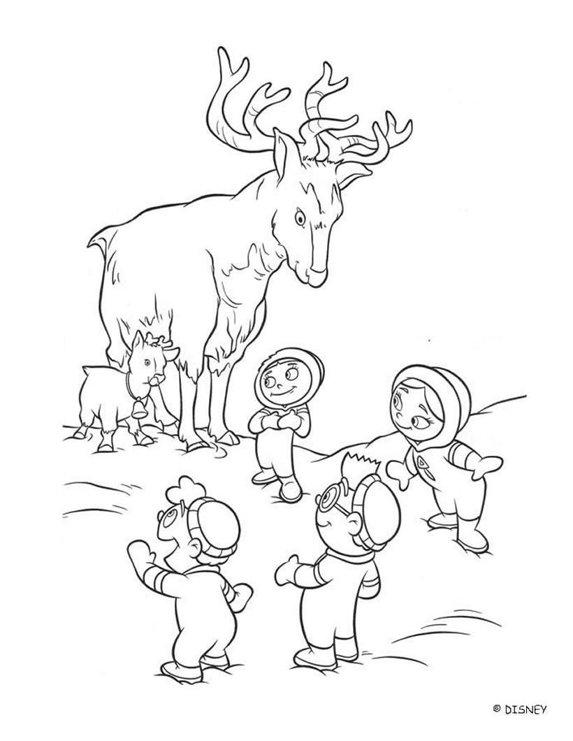 Coloring pages deer - Coloring Pages Deer 48