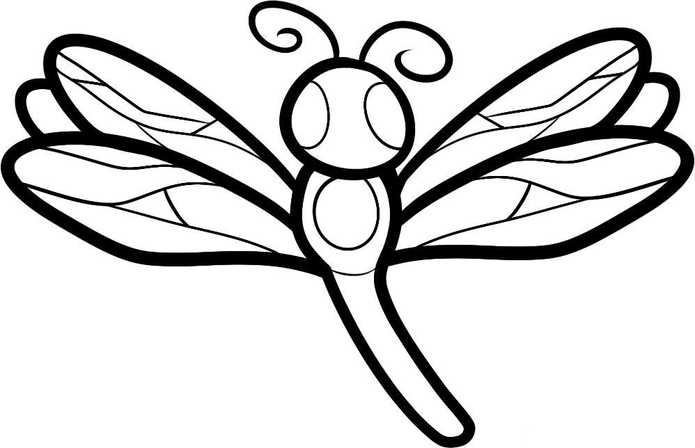 Free printable dragonfly coloring pages for kids animal for Dragonfly coloring pages