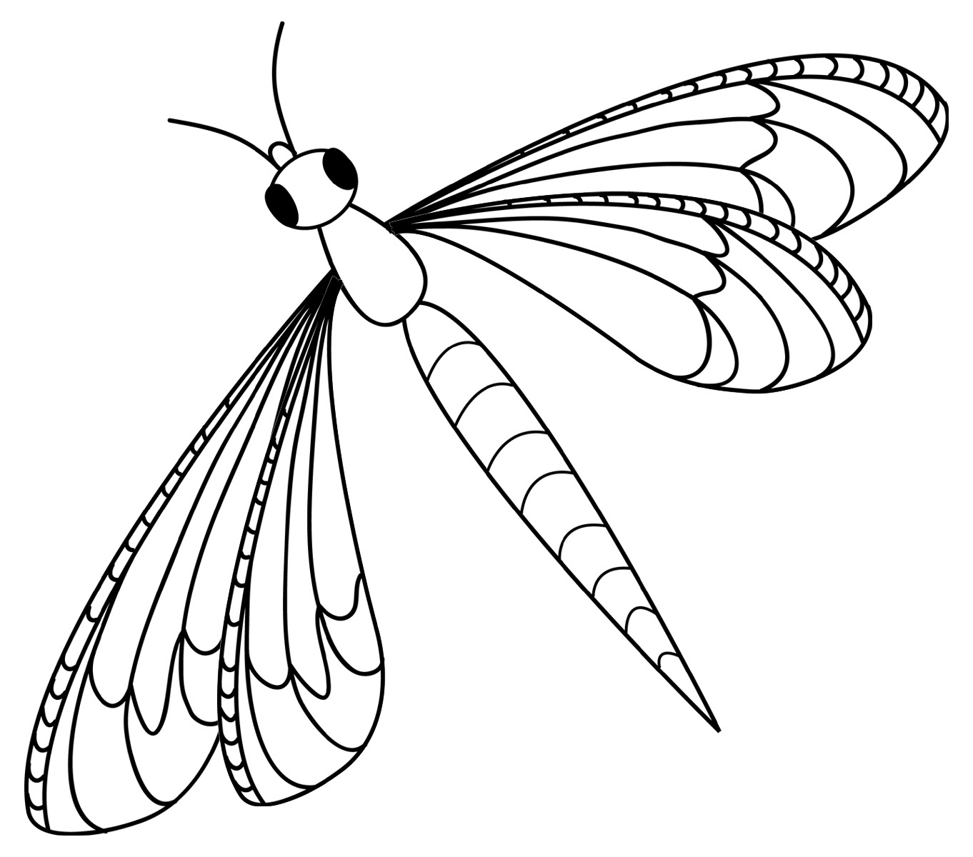 Of insects free coloring pages on art coloring pages - Free Printable Dragonfly Coloring Pages For Kids