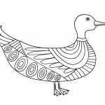 Duck Coloring Page Picture