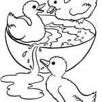 Duck Coloring Page of Kids Image