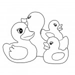 Duck Coloring Page of Kids Images