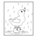 Duck Coloring Page of Kids Photo