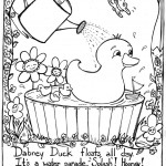 Duck Coloring Page of Kids Pictures