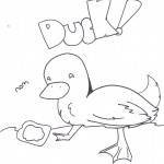 Duck Coloring Pages Image