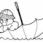 Duck Coloring Pages of Kids Image