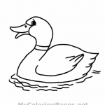 Duck Coloring Pages of Kids Photos