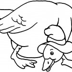 Duck Coloring Pages of Kids Picture
