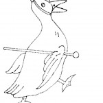 Duck Coloring Pages of Kids Pictures